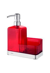 Organizador De Pia - Elegance 19,5 X 16 X 7,5 Cm Vermelho Brinox