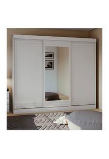 Guarda Roupa Casal C/ Espelho 3 Portas 4 Gavetas Speciale Móveis Lopas Branco