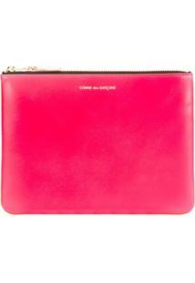 Comme Des Garçons Wallet Clutch Modelo 'New Super Fluo' - Rosa