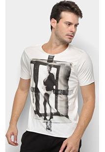 Camiseta Derek Ho Blurry Lady Masculina - Masculino-Off White