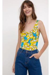 Body Estampado Com Simpsons