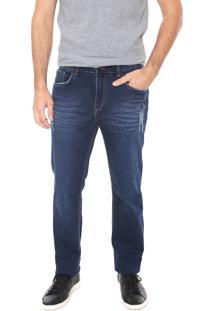 Calça Jeans Hering Slim Desgastes Azul