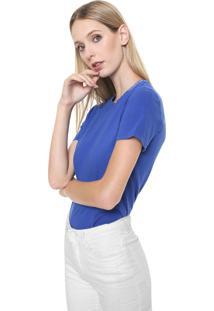 Camiseta Calvin Klein Jeans Lisa Logo Azul