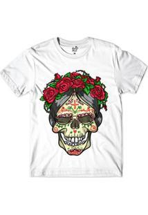 Camiseta Long Beach Caveira Espinhos Sublimada Masculina - Masculino