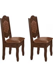Cadeiras Kit 2 Cadeiras Imperial Iii Castanho Rústico/Mar - Art Panta