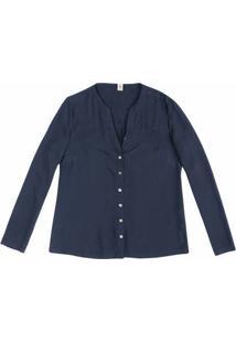 Camisa Feminina Básica Em Tecido De Viscose Maquinetada Hering