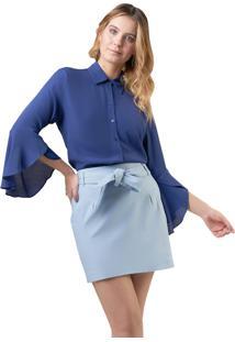 Camisa Mx Fashion Viscose Farah Azul