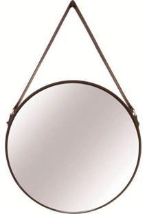 Espelho Redondo Decorativo 36 Cm Preto