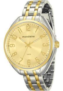 Relógio Mondaine Feminino - Feminino-Prata+Dourado