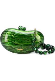Cult Gaia Clutch Tallulah Bean - Verde