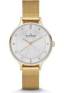 Relógio Skagen Anita Sk Feminino - Feminino-Dourado