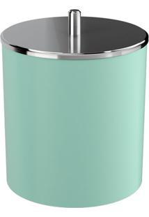 Lixeira Com Tampa- Inox & Verde Claro- 5,4L- Cozcoza