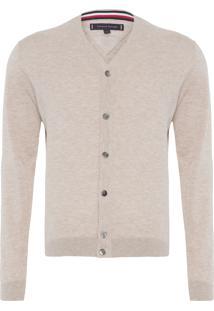 Suéter Masculino Linen Cotton Blend - Bege