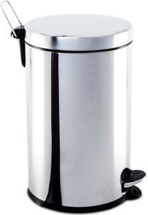 Lixeira Inox Com Pedal E Balde Decorline 30X46Cm 20L Brinox