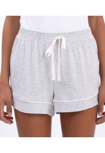 Short De Pijama Liso Mescla