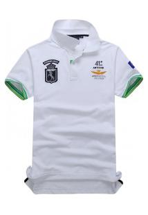 Camisa Polo Air Force Piquet Manga Curta - Branco
