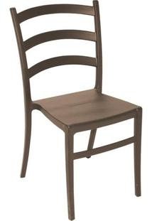 Cadeira Nadia Sem Braço Marrom Summa - Tramontina