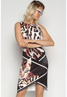 Vestido Triton Animal Print - Feminino-Estampado