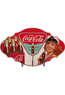 Cabideiro Coca Cola Pin Up E Garrafas