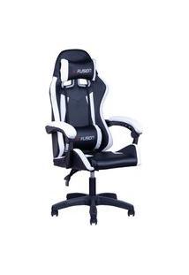 Cadeira Gamer Home Office Preta Com Branco