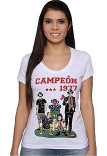 Camiseta Feminina Chaves F.C Geek10 - Branco