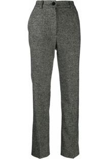 Dolce & Gabbana Calça De Alfaiataria Em Tweed - Preto