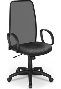 Cadeira Presidente Tela Master Preto Bra - Cinza - Dafiti