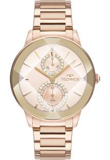 Relógio Technos Feminino Crystal Analógico Rosé 6P73Ae1T - Kanui