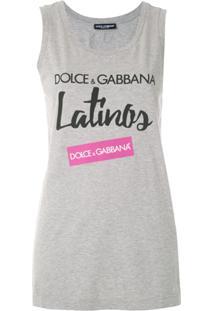 Dolce & Gabbana Regata Com Estampa De Logo - Cinza