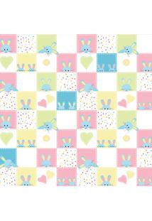 Papel De Parede Quartinhos Adesivo Texturizado Infantil Coelho 2,70X0,57M