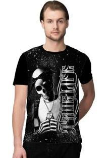 Camiseta Stompy Thug Life Masculina - Masculino-Preto