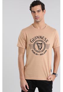 "Camiseta Guinness ""Dublin Ireland"" Marrom"