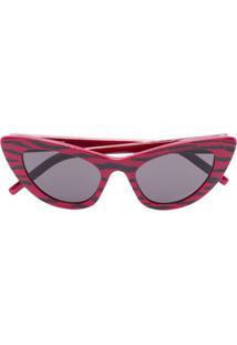 Saint Laurent Eyewear Óculos De Sol Gatinho - Vermelho