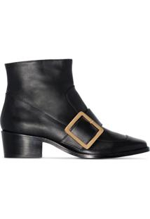 Roker Ankle Boot Com Fivela 'Whickham 35' - Preto