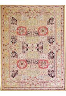 Tapete Isfahan Retangular Veludo 60X120 Cm Caramelo