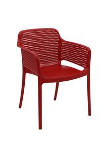 Cadeira Tramontina 92151040 Gabriela Polipropileno E Fibra De Vidro Vermelho