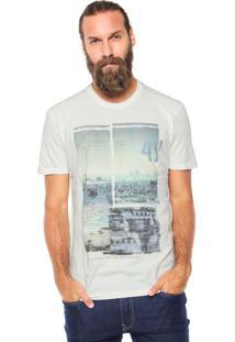 Camiseta Wrangler Estampada Bege