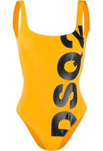 Dsquared2 Logo Swimsuit - Amarelo