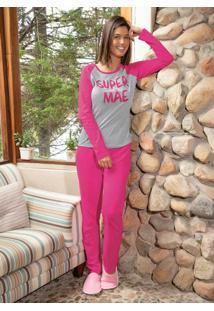 Pijama Pink E Mescla Com Relevo Bela Notte