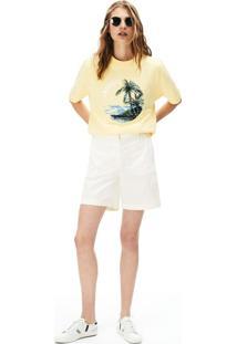 Bermuda Lacoste Regular Fit Branco