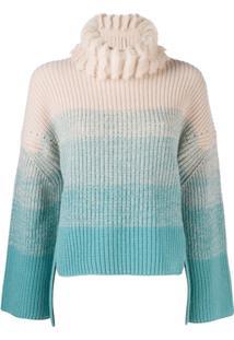 Fendi Suéter Gola Alta - Azul