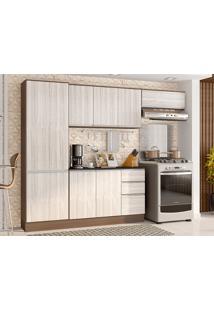 Cozinha Compacta C/ Tampo Paris-Poliman - Amendoa / Arena