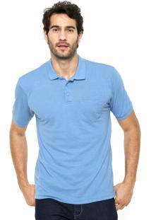 Camisa Polo Broken Rules Bolso Azul Claro