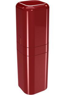 Porta Escova Com Tampa Splash 22,5X6,5Cm Vermelho Bold