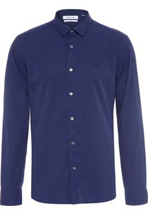 Camisa Masculina Slim Cannes - Azul