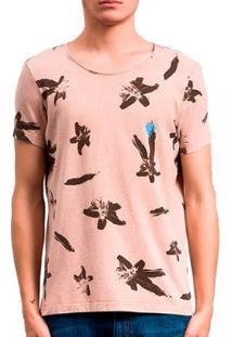 Camiseta Salt 35G Lily Dupla Face Masculina - Masculino-Marrom