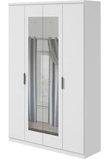 Guarda-Roupa Alonzo Plus Com Espelho - 100% Mdf - 4 Portas - Branco