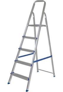 Escada Mor, R.5103, 5 Degraus, Aluminio - Pedido Especial