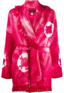 Alanui Cardigan Tie-Dye Com Franjas - Rosa