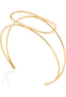 Bracelete Rommanel Aro Duplo - Feminino-Dourado